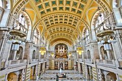 Kelvingrove Art Gallery and Museum Central Hall Royalty Free Stock Image