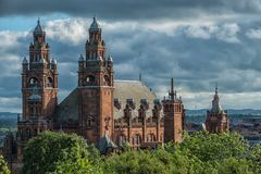Kelvingrove Art Gallery and Museum, Glasgow, UK. Tourism and historic buldings Royalty Free Stock Photo