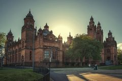 Kelvingrove Art Gallery and Museum, Glasgow, UK. Tourism and historic buldings Stock Photo