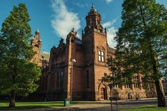 Kelvingrove Art Gallery and Museum, Glasgow, UK. Tourism and historic buldings Royalty Free Stock Photography
