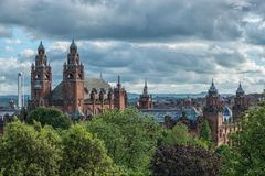 Kelvingrove Art Gallery and Museum, Glasgow, UK. Tourism and historic buldings Royalty Free Stock Images