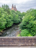 Kelvingrove Art Gallery and Museum. Towers of Kelvingrove Art Gallery and Museum in Glasgow Scotland along the Kelvin River Royalty Free Stock Images