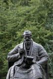 Kelvingrove-Park, Glasgow, Schottland, Vereinigtes K?nigreich, im September 2013, die Statue und das Denkmal zu Lord Kelvin lizenzfreie stockfotos