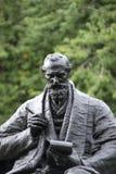 Kelvingrove parkerar, Glasgow, Skottland, F?renade kungariket, September 2013, statyn och minnesm?rken till Lord Kelvin arkivbilder