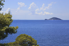 Kelyfos (Turtle) Island in the Aegean Sea. Royalty Free Stock Images