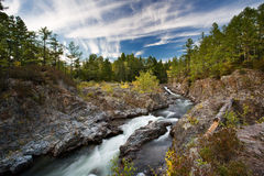 Kema river. Far from Vladivostok, Russia, Far-East royalty free stock photo