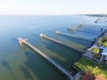 Kemah空中渔的码头 库存照片