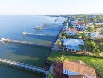 Kemah-Fischenpiers von der Luft Stockfotos