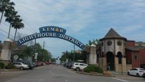 Kemah plaża, Teksas Obrazy Stock