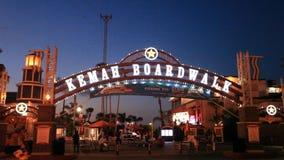 Kemah-Promenaden-Vergnügungspark stock video footage