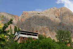 Kemaliye, turkey. House perched on the hills in kemaliye, turkey royalty free stock images