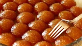 Kemalpasa sul dessert pronto da mangiare della forcella, variet? dolci di Turchia video d archivio