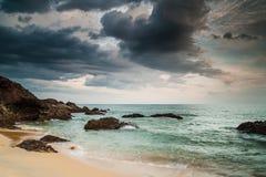 Kemasik Beach. View of beach at Kemasek, Terengganu before sunset Royalty Free Stock Photos