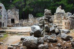 Kemer, Турция, май 2017 Руины древнего города Phaselis стоковое фото rf