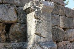 Kemer, Antalya - 14 Ιουλίου 2012 Η αρχαία πόλη Phaselis Τουρκία Στοκ φωτογραφία με δικαίωμα ελεύθερης χρήσης