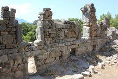 Kemer, Antalya - 14 Ιουλίου 2012 Η αρχαία πόλη Phaselis Τουρκία Στοκ φωτογραφίες με δικαίωμα ελεύθερης χρήσης