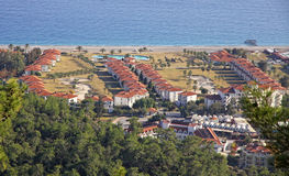 Kemer city - famous Mediterranean resort Stock Images