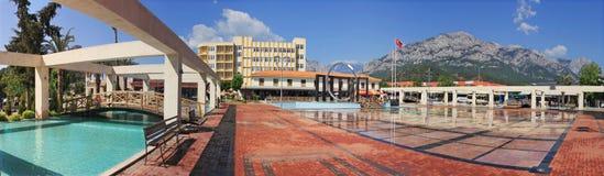 Kemer. City Plaza. Panoramic view of Kemer city plaza, Turkey Royalty Free Stock Image