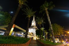 Kemer clock tower Royalty Free Stock Images