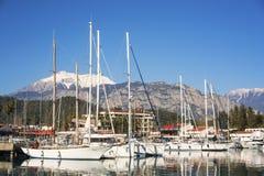 Kemer-Jachthafen, Antalya/die Türkei lizenzfreies stockfoto