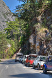 Kemer jeep safari tour at the Taurus Mountains in Antalya, Turk royalty free stock photography