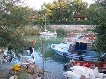 Kemer Turcja, Sierpień, - 14, 2012: Kemer rybaka ` s zatoka Zdjęcie Royalty Free