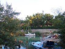 Kemer Turcja, Sierpień, - 14, 2012: Kemer rybaka ` s zatoka Fotografia Stock