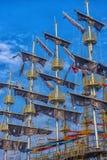 KEMER, TURCJA - 11,08,2017 Turystycznych piratów statków w porcie K Obrazy Stock
