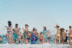 Kemer, Turkey-August 21, 2014. Foam Party on Royalty Free Stock Photography