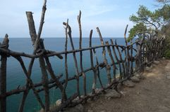 KEMER, TURKEY - MAY 07, 2018: fence out of sticks royalty free stock images