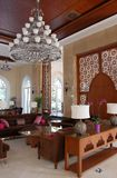 Interior of the hall in the Turkish luxury hotel. Stock Photos