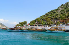 Kemer, Turkey - 06.20.2015. Pleasure boats for Stock Images
