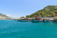 Kemer, Turkey - 06.20.2015. Pleasure boats for Stock Image