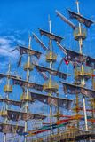 KEMER, TURKEY - 11,08,2017 Tourist pirate ships in the port of K. Emer Stock Images