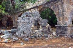 Kemer, Turquie, mai 2017 Ruines de la ville antique de Phaselis Image libre de droits