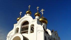 kemerovo Igreja da trindade santamente Igreja ortodoxa do russo Imagens de Stock Royalty Free