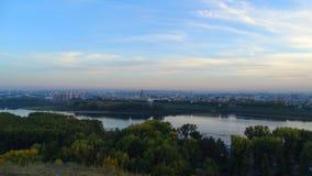 kemerovo Miasto widok od punktu obserwacyjnego Obrazy Royalty Free