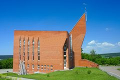 Kemerovo, modern building Protestant Church Stock Photos