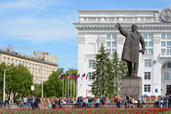 Kemerovo, monument to Lenin Royalty Free Stock Photography