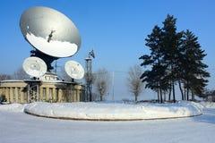 Kemerovo, televisione via satellite della stazione Immagini Stock Libere da Diritti