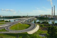 Kemerovo, vista dalla piattaforma Fotografie Stock