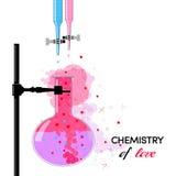Kemi av förälskelse Arkivfoto