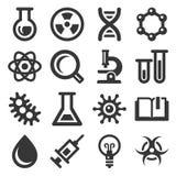 Kemi- och vetenskapssymbolen st vektor illustrationer