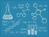 Kemi vetenskap, kemiska beståndsdelar Arkivbilder