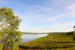 Kemijoki river Stock Photo