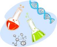 kemikalie royaltyfri illustrationer