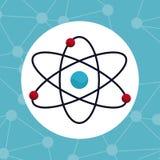 Kemikalie för atommolekylstruktur stock illustrationer