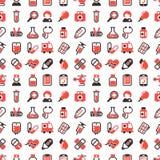 Kemikalie för vetenskap för laboratorium för drog för läkarbehandling för sjukvård för bakgrund för modell för vård- vektor för m stock illustrationer