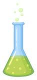 Kemikalie i den glass dryckeskärlen stock illustrationer