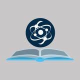 Kemikalie med atomvetenskapssymbolen royaltyfri illustrationer